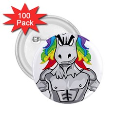 Angry Unicorn 2 25  Buttons (100 Pack)