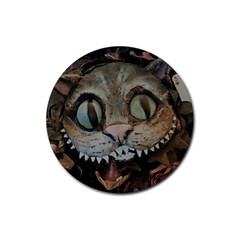 Cheshire Cat Rubber Round Coaster (4 Pack)