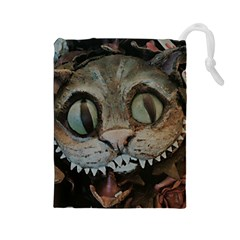 Cheshire Cat Drawstring Pouches (large)  by KAllan