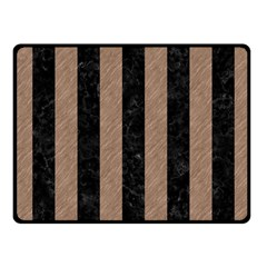 Stripes1 Black Marble & Brown Colored Pencil Fleece Blanket (small) by trendistuff