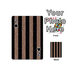 Stripes1 Black Marble & Brown Colored Pencil Playing Cards 54 (mini) by trendistuff
