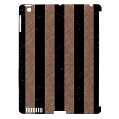 Stripes1 Black Marble & Brown Colored Pencil Apple Ipad 3/4 Hardshell Case (compatible With Smart Cover) by trendistuff