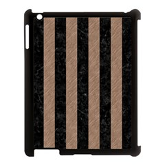 Stripes1 Black Marble & Brown Colored Pencil Apple Ipad 3/4 Case (black) by trendistuff