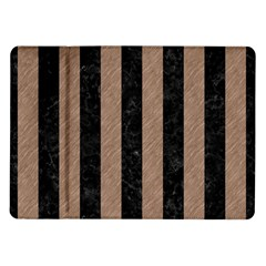 Stripes1 Black Marble & Brown Colored Pencil Samsung Galaxy Tab 10 1  P7500 Flip Case by trendistuff
