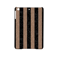 Stripes1 Black Marble & Brown Colored Pencil Apple Ipad Mini 2 Hardshell Case by trendistuff