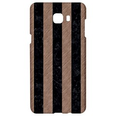 Stripes1 Black Marble & Brown Colored Pencil Samsung C9 Pro Hardshell Case  by trendistuff