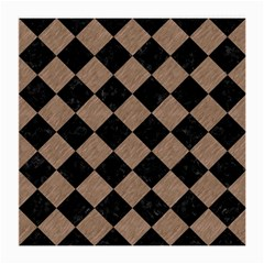Square2 Black Marble & Brown Colored Pencil Medium Glasses Cloth by trendistuff