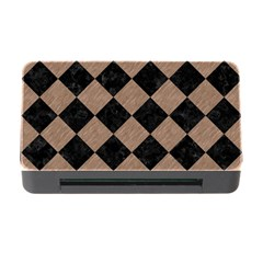 Square2 Black Marble & Brown Colored Pencil Memory Card Reader With Cf by trendistuff
