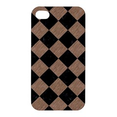 Square2 Black Marble & Brown Colored Pencil Apple Iphone 4/4s Hardshell Case by trendistuff