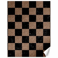 Square1 Black Marble & Brown Colored Pencil Canvas 12  X 16  by trendistuff