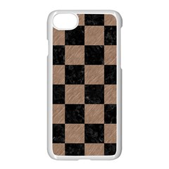 Square1 Black Marble & Brown Colored Pencil Apple Iphone 7 Seamless Case (white) by trendistuff