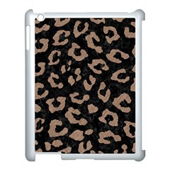Skin5 Black Marble & Brown Colored Pencil (r) Apple Ipad 3/4 Case (white) by trendistuff