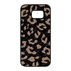 Skin5 Black Marble & Brown Colored Pencil (r) Samsung Galaxy S7 Edge Black Seamless Case by trendistuff