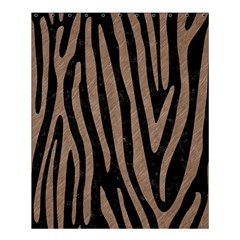 Skin4 Black Marble & Brown Colored Pencil (r) Shower Curtain 60  X 72  (medium) by trendistuff