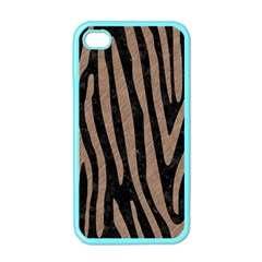 Skin4 Black Marble & Brown Colored Pencil (r) Apple Iphone 4 Case (color) by trendistuff
