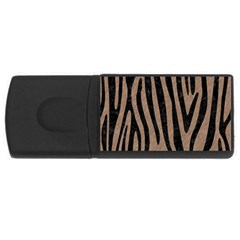 Skin4 Black Marble & Brown Colored Pencil Usb Flash Drive Rectangular (4 Gb) by trendistuff