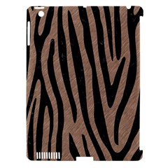 Skin4 Black Marble & Brown Colored Pencil Apple Ipad 3/4 Hardshell Case (compatible With Smart Cover) by trendistuff
