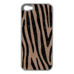 Skin4 Black Marble & Brown Colored Pencil Apple Iphone 5 Case (silver) by trendistuff