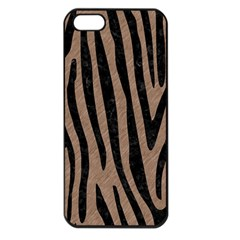 Skin4 Black Marble & Brown Colored Pencil Apple Iphone 5 Seamless Case (black) by trendistuff