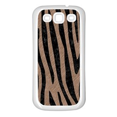 Skin4 Black Marble & Brown Colored Pencil Samsung Galaxy S3 Back Case (white) by trendistuff