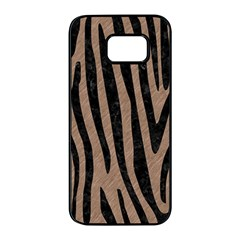 Skin4 Black Marble & Brown Colored Pencil Samsung Galaxy S7 Edge Black Seamless Case