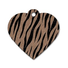 Skin3 Black Marble & Brown Colored Pencil (r) Dog Tag Heart (two Sides) by trendistuff