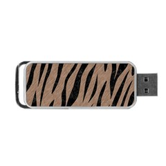 Skin3 Black Marble & Brown Colored Pencil (r) Portable Usb Flash (two Sides) by trendistuff