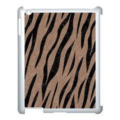 Skin3 Black Marble & Brown Colored Pencil (r) Apple Ipad 3/4 Case (white) by trendistuff