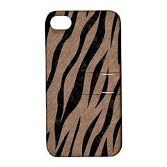 Skin3 Black Marble & Brown Colored Pencil (r) Apple Iphone 4/4s Hardshell Case With Stand by trendistuff