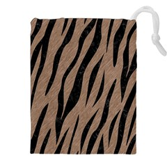 Skin3 Black Marble & Brown Colored Pencil (r) Drawstring Pouch (xxl) by trendistuff