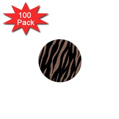 Skin3 Black Marble & Brown Colored Pencil 1  Mini Button (100 Pack)  by trendistuff