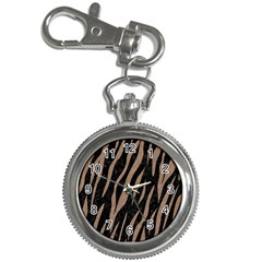 Skin3 Black Marble & Brown Colored Pencil Key Chain Watch by trendistuff