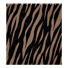 Skin3 Black Marble & Brown Colored Pencil Shower Curtain 66  X 72  (large) by trendistuff
