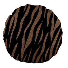 Skin3 Black Marble & Brown Colored Pencil Large 18  Premium Round Cushion  by trendistuff