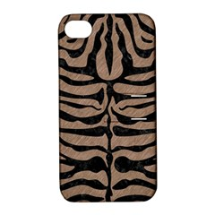 Skin2 Black Marble & Brown Colored Pencil (r) Apple Iphone 4/4s Hardshell Case With Stand by trendistuff