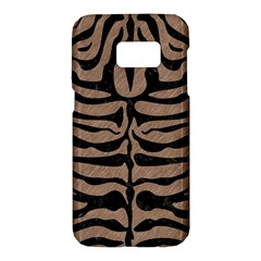 Skin2 Black Marble & Brown Colored Pencil (r) Samsung Galaxy S7 Hardshell Case  by trendistuff