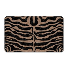 Skin2 Black Marble & Brown Colored Pencil Magnet (rectangular)