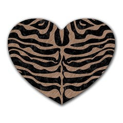 Skin2 Black Marble & Brown Colored Pencil Heart Mousepad by trendistuff