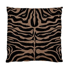 Skin2 Black Marble & Brown Colored Pencil Standard Cushion Case (two Sides) by trendistuff