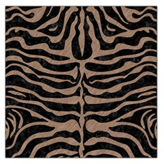 Skin2 Black Marble & Brown Colored Pencil Large Satin Scarf (square)