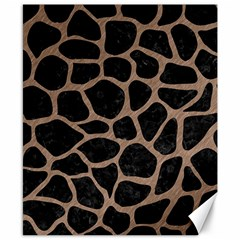 Skin1 Black Marble & Brown Colored Pencil (r) Canvas 8  X 10  by trendistuff