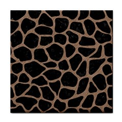 Skin1 Black Marble & Brown Colored Pencil (r) Face Towel by trendistuff