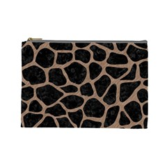 Skin1 Black Marble & Brown Colored Pencil (r) Cosmetic Bag (large) by trendistuff
