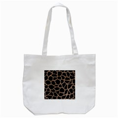 Skin1 Black Marble & Brown Colored Pencil (r) Tote Bag (white) by trendistuff