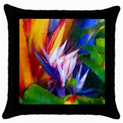 Palms02 Throw Pillow Case (black) by psweetsdesign