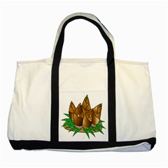 Young Bamboo Two Tone Tote Bag by Mariart