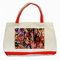 Autumnn Rainbow Classic Tote Bag (red) by Mariart