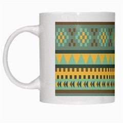 Bezold Effect Traditional Medium Dimensional Symmetrical Different Similar Shapes Triangle Green Yel White Mugs by Mariart