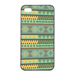 Bezold Effect Traditional Medium Dimensional Symmetrical Different Similar Shapes Triangle Green Yel Apple Iphone 4/4s Seamless Case (black)