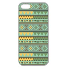 Bezold Effect Traditional Medium Dimensional Symmetrical Different Similar Shapes Triangle Green Yel Apple Seamless Iphone 5 Case (clear) by Mariart